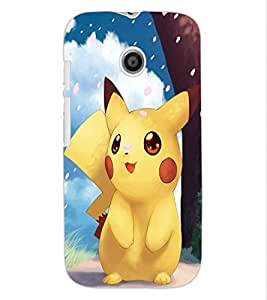 ColourCraft Cute Cartoon Creature Design Back Case Cover for MOTOROLA MOTO E