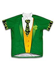 Iris Tuxedo St. Patrick's Day Short Sleeve Cycling Jersey for Women