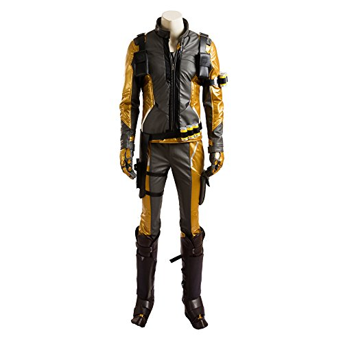 MLYX Men's Soldier 76 Cosplay Costume Deluxe Gold Version Outfit (XXX-Large, Whole Set) (Soldiers Outfit)