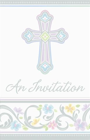 Blessed Day Fill In Invitations 8 ct