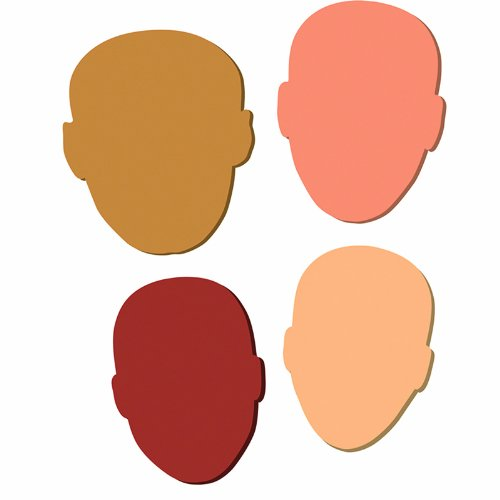 Chenille Kraft CK-4424 Multicultural Wonder Foam Faces, 7