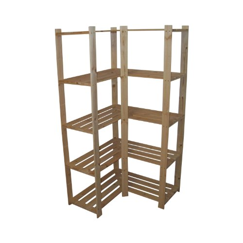 Corner Shelf Unit Solid Wood 170 x 80 x 40 cm by Len Mar.de
