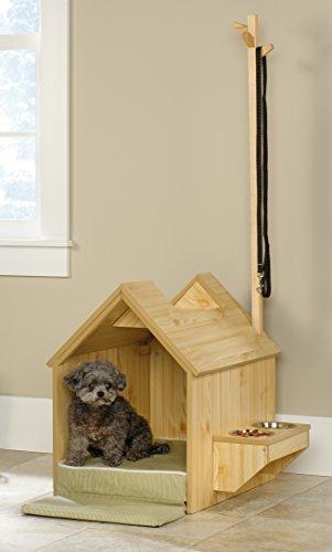 new-sauder-furniture-417192-light-pine-indoor-dog-house-w-food-and-water-shelf-by-sauder