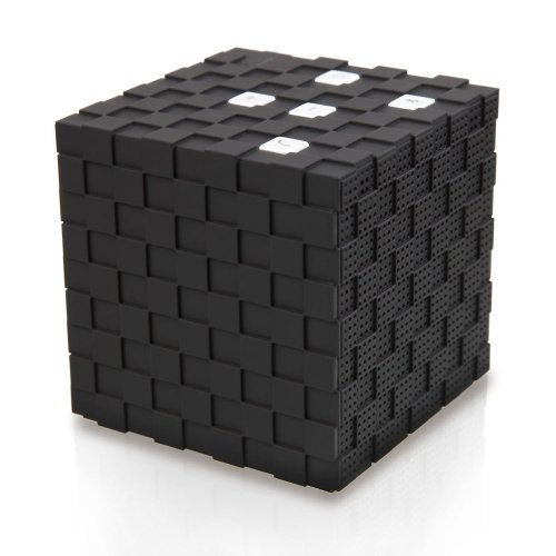 Magicdots Cool Cube Portable Edr Bluetooth 3.0 Wireless Speaker With 3.5Mm Audio Port Loudspeaker For Office Climbing Hiking Camping Riding Iphones Ipads Android Cell Phones Tablets Macbooks Laptop Computers Mp3 Mp4 Players Portable Cd/Dvd Players (Black)