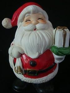 Vintage HOMCO Santa Claus Decoration and Coin Bank 5212