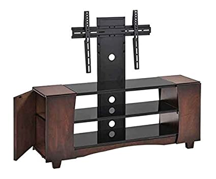 53 in. TV Stand in Antique Walnut Finish