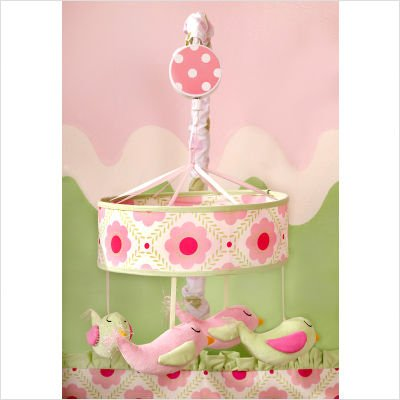 Baby Shop on My Baby Sam Garden Party Mobile  Pink Green  44 00