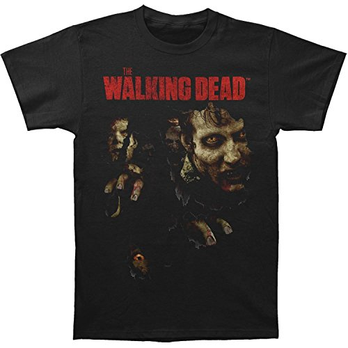 The Walking Dead Walkers Busting Through Shirt X-Large Black