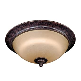 "Vaxcel Lighting ES-CC35916AZ/B Energy Star 1 Light 16"" Ceiling Light from the Mont Blanc Collection, Aztec Bronze"