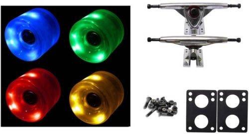 60Mm Multi Led Wheels Night Light Longboard Combo 180Mm Trucks/Bearings/
