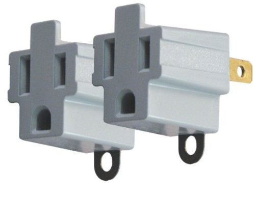 AXIS 45086 3-Prong to 2-Prong Electrical Adapter - 2 Pack image
