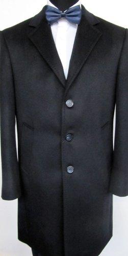 MUGA mens Casmere Long Coat, Marineblue/Darkblue, Size 54R (EU 64)