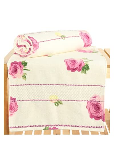 Maisonette Ceylin 2-Piece Bath Towel Set, Pink