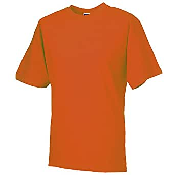 Russell Collection Colours Mens Lightweight Cotton Short Sleeve T-Shirt