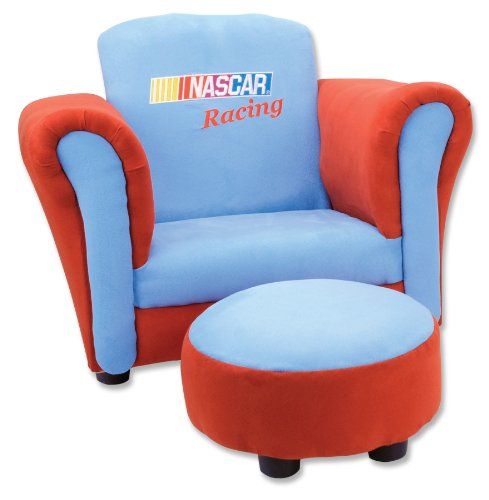 Trend Lab Ultrasuede Club Chair and Ottoman Set, NASCAR