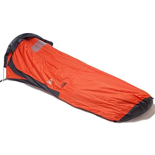 Aqua-Quest 'Single Pole' Waterproof & Breathable Ultra Light Bivy Bivouac - One Person Multi Season Shelter - Orange Model (One Person Shelter compare prices)