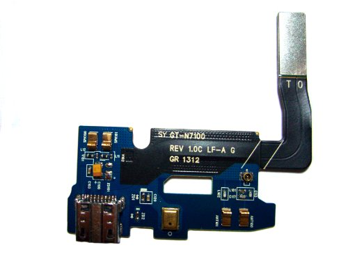 Mato Online® Connector Charging Port Microphone Flex Cable Ribbon Replacement Part For Samsung Galaxy Note 2 Ii N7100