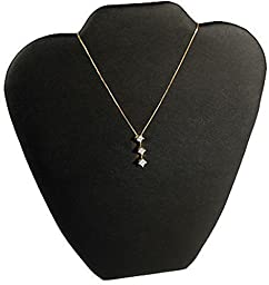 Black Leather Pendant Necklace Jewelry Display 9\