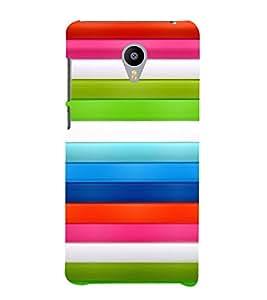 PrintVisa Stripes Pattern 3D Hard Polycarbonate Designer Back Case Cover for Meizu M2 Note