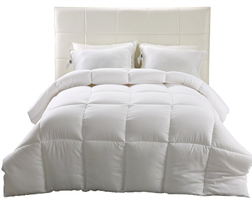 Down Alternative Comforter (White, Queen) - All Season Comforter - Hypoallergenic Plush Siliconized Fiberfill Duvet Insert - Box Stitched- by Utopia Bedding (Duvet Insert Lightweight compare prices)