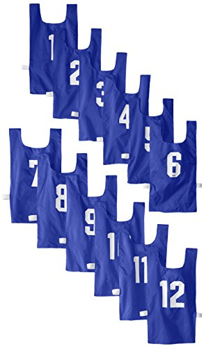 US Games Numbered Nylon Pinnies, Blue (One Dozen) (Numbered Shirts compare prices)