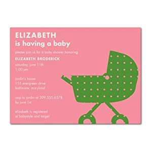 baby shower invitations trendy carriage watermelon by
