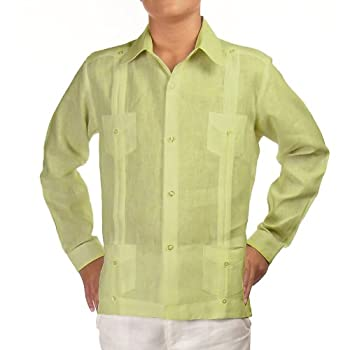 Boys linen guayabera shirt in light sage. Final sale