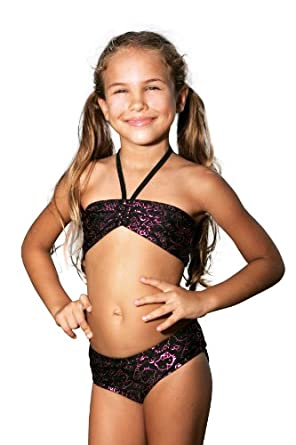 Amazon.com: Hello Kitty Faces Bandeau Bikini - Little Girl: Fashion