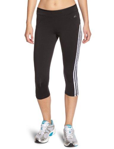 Adidas Damen 3/4 Tights Cool Training Core, black/white/matte gunmetal, M, X26446