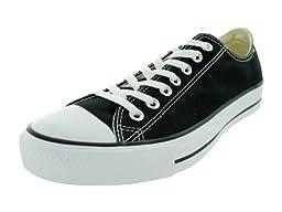Converse Mens Chuck All Star Black Low Sneaker - Black/White Mens 8, Womens 10