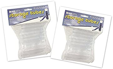 Clear Storage Tubes 3 Inches Long - For Seed Beads and Delicas 50 Tubes