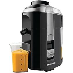 BLACK+DECKER JE2200B 400-Watt Fruit and Vegetable Juice Extractor with Custom Juice Cup, Black