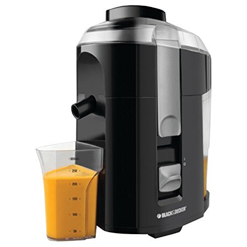 Black & Decker JE2200B 400-Watt Fruit and Vegetable Juice Extractor with Custom Juice Cup, Black