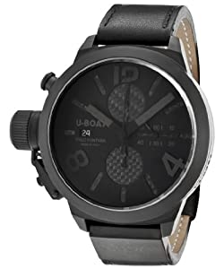 U-Boat Classico CAB Black Carbon Fire Dial Automatic Chronograph Mens Watch 2278
