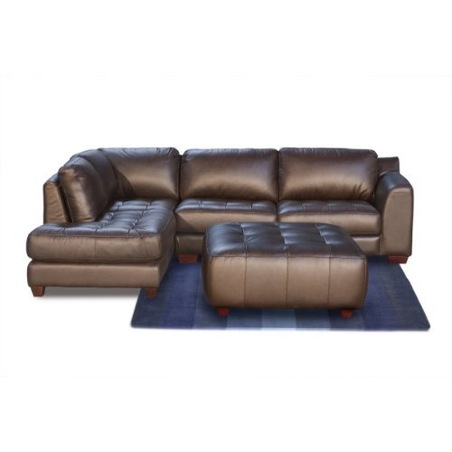 Zen Collection Left Facing Chaise 2PC Sectional with Square Cocktail Ottoman by Diamond Sofa