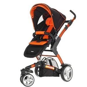 abc design kombi kinderwagen 3 tec inkl tragewanne orange black modell 2011 baby. Black Bedroom Furniture Sets. Home Design Ideas