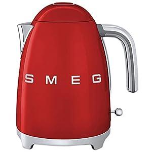 SMEG Cordless Electric Red Kettle Jug - Retro 50's (1.7L, 1 Yr Warranty) by SMEG