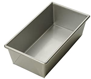 Focus Foodservice Commercial Bakeware 8-1/2 by 4-1/2-Inch Loaf Pan, 1-Pound