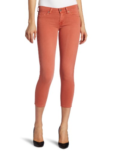 7 For All Mankind Women's Crop Skinny Jean, Light Coral, 30
