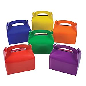 Cardboard Bright Colors Treat Boxes