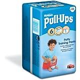 Huggies Pull Ups Potty Training Pants for Boys - Large (16-23 kg), 12 x 6 Packs (72 Pants)