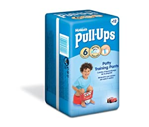 Huggies Pull Ups Potty Training Pants for Boys - Large (16-23 kg), 12 x 6 Packs (72 Pants)