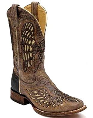 Corral Mens Wing And Cross Square Toe Western Boot