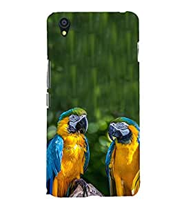 Blue Yellow Parrots 3D Hard Polycarbonate Designer Back Case Cover for OnePlus X :: One Plus X :: One+X