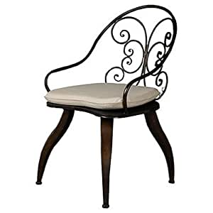 wrought iron arm chair 22 5 x22 5 x35