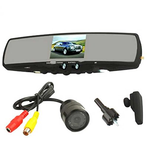 Bluetooth Handsfree Car Kit System With 3.5 Inch Tft Lcd Screen Rearview Mirror And Rearview Camera Lead Time: 1~3 Days.