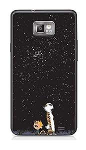 Upper case Fashion Mobile Skin Sticker for Samsung I9100 Galaxy S II
