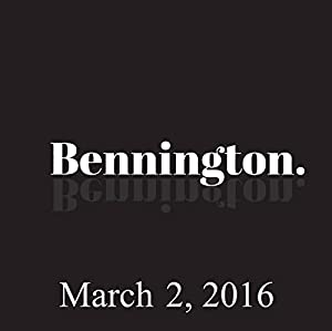 Bennington, March 2, 2016 Radio/TV Program