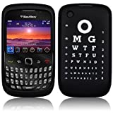 Blackberry 9300/8520/8530 WTF OMG Eye Test Black Silicone Skin Case Cover From Keep Talking Shop Blackberry Accessoriesby The Keep Talking Shop