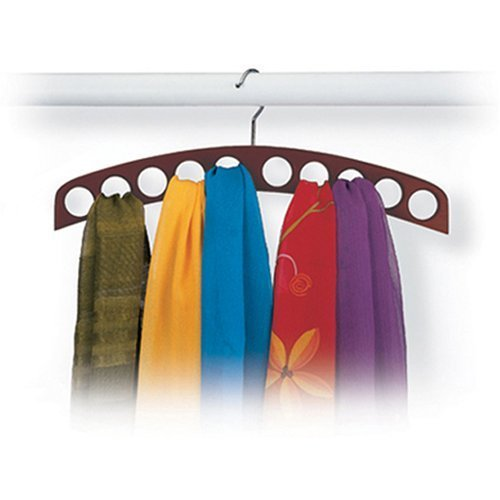 10-Hole Scarf Hanger – Walnut